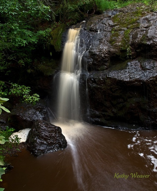 beautiful waterfall in Amnicon Falls State Park in Wisconsin.