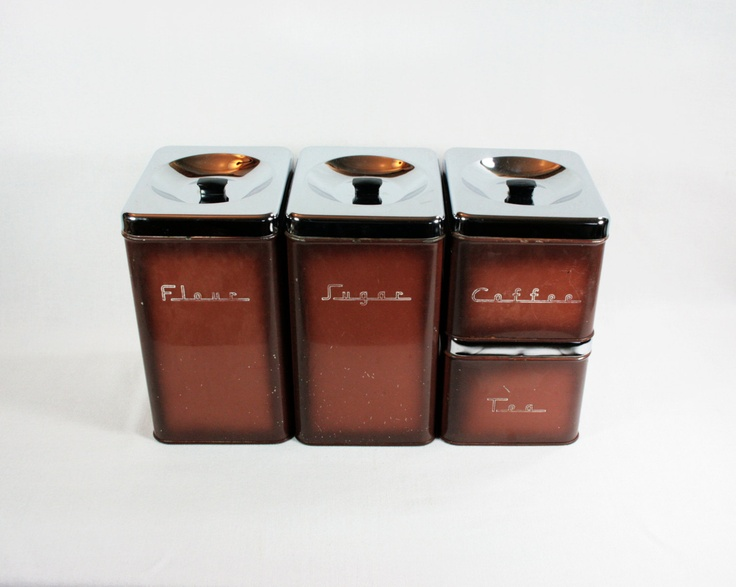 1000 images about vintage canister sets on pinterest