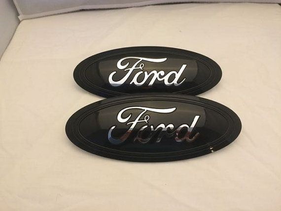 2015-6 FORD f150 Custom painted black & chrome logo emblem