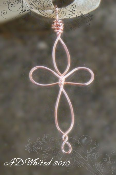 wire cross-would be even better w beads