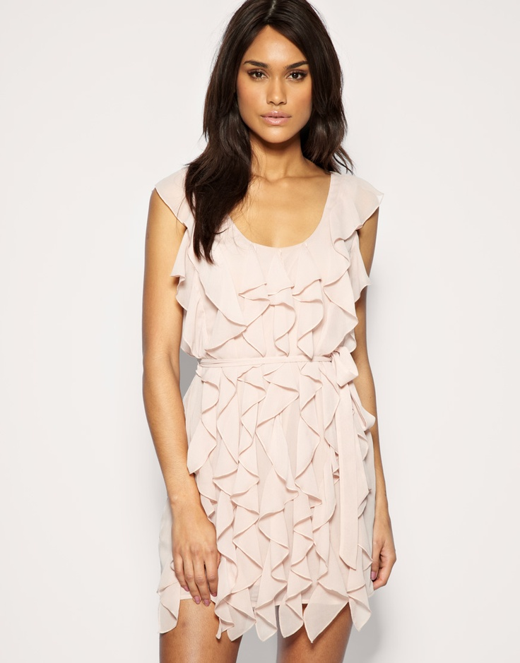 ASOS Soft Frill Belted Dress $71.72