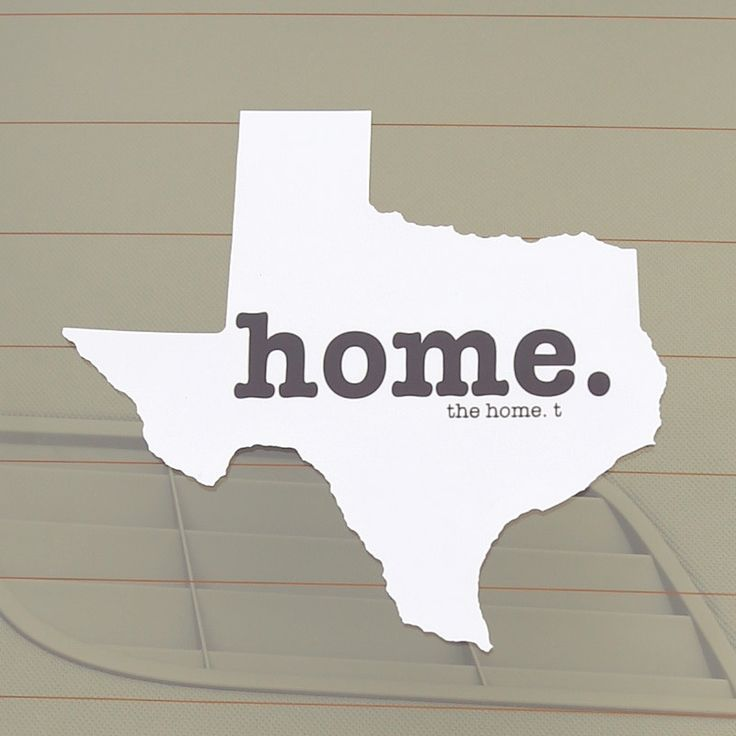 The Texas Home Decal is a great way to show off your state pride! It
