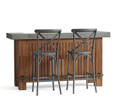 Abbott Ultimate Bar + 2 X Back Barstools   Zinc. Outdoor Lounge  FurnitureConsole ...