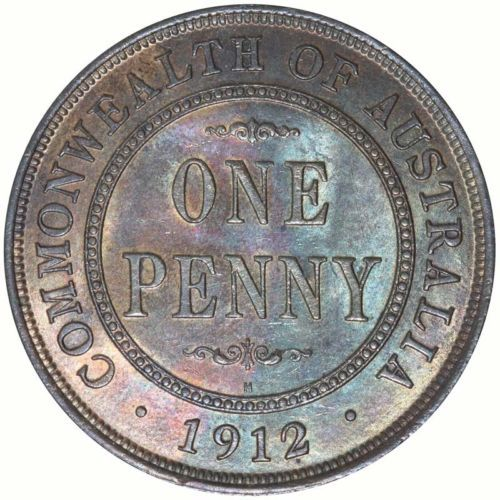 Australia 1912 Penny Coin CHOICE UNC Retail $1900