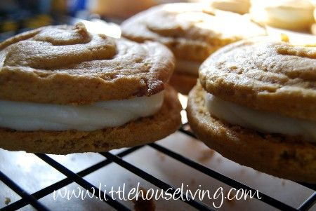 Pumpkin Whoopie Pies - Yay, recipe for fall pumpkin! Making these today!