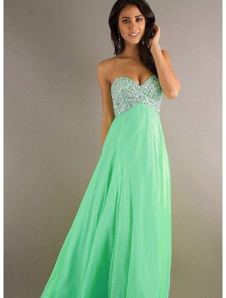 Shiny  turquoise dress
