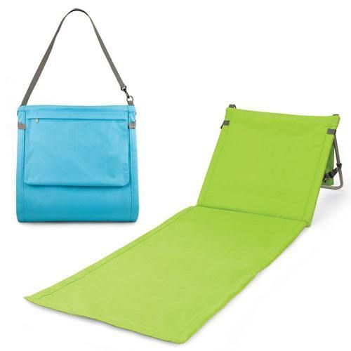 Portable Beach Chair Tote. This would be so much easier than carrying the heavy metal ones around every weekend.