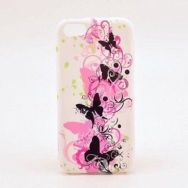 Colorful Butterflies Mønster TPU Soft Veske til iPhone 5C – NOK kr. 31