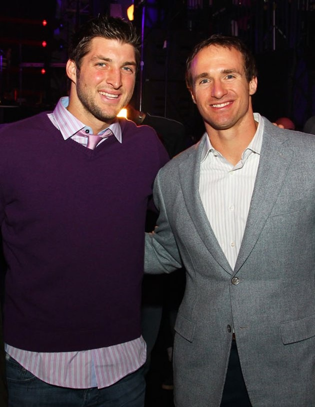 tim tebow and drew brees ❤