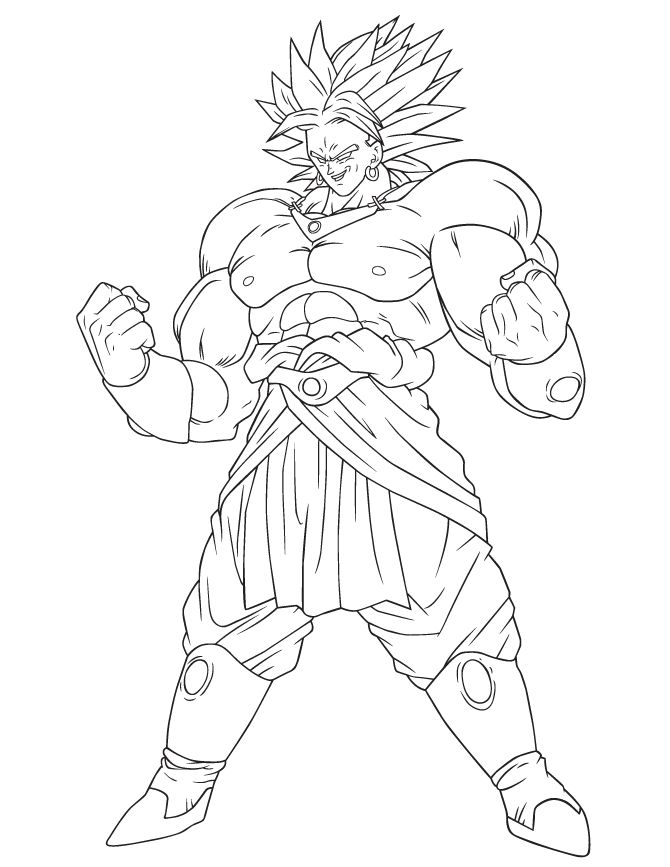 Dragon Ball Broly Coloring Page