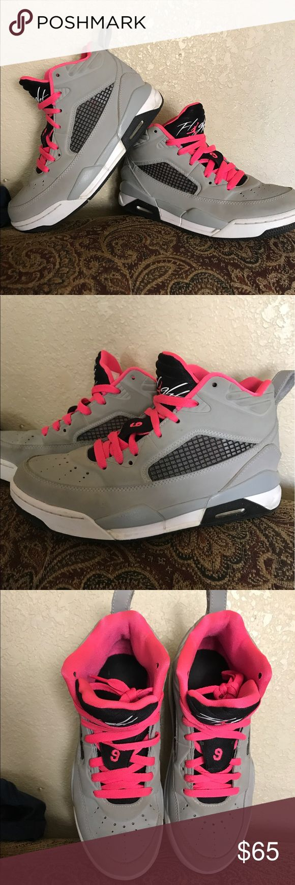 Flight Jordans Very good condition worn 4 times. Size 7 in women's Jordan Shoes Sneakers