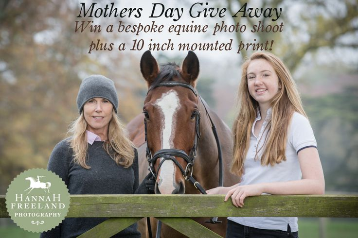 Mothers Day Give Away on Hannah Freeland Photography's facebook page.  http://on.fb.me/1QlKjyh Mother and Daughter/Son shoot plus a 10inch mounted print up for grabs! Winner announced on 4th March 2016.