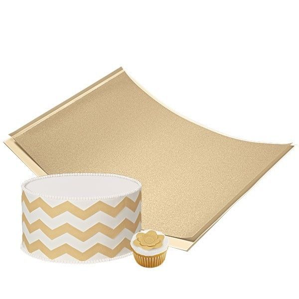 Edible Cake Decoration Sheets : Gold Shimmer Sugar Sheet Edible Decorating Paper Wilton ...