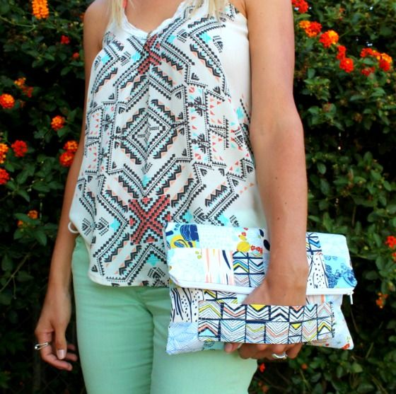 Sew a Fold-over Patchwork Clutch Bag – Free Video Tutorial from Melanie Ham
