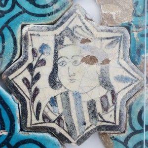 Karatay Medrese, Konya : Single Tile Motifs with Cross Tiles – Haç Karo ile Tek Karo Motifleri-Portraits – Portre
