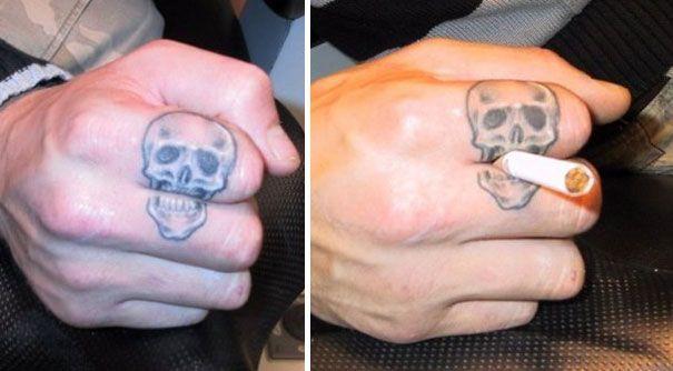 tatouages interactifs- Une sélection de tatouages qui utilisent le corps de façon créative. 30 PHOTOS