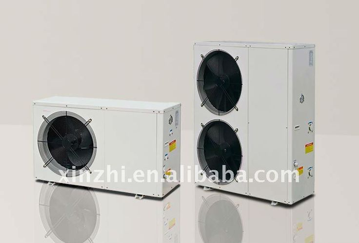 EVI air to water heat pump outdoor installation for low ambient temperature -25C