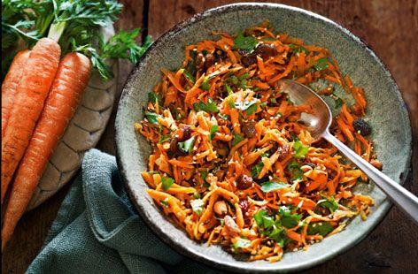 This indian carrot salad would be perfect with some of our Sweet potato pakoras!