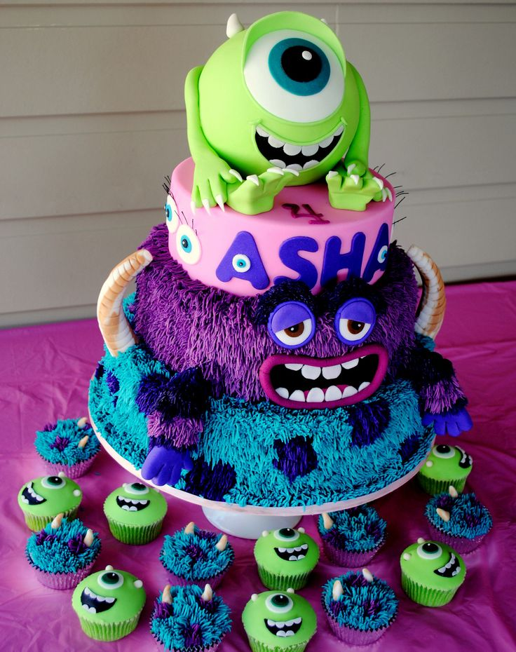 Monsters Inc - Monsters University Cake - Monsters Inc - Monsters University Cake