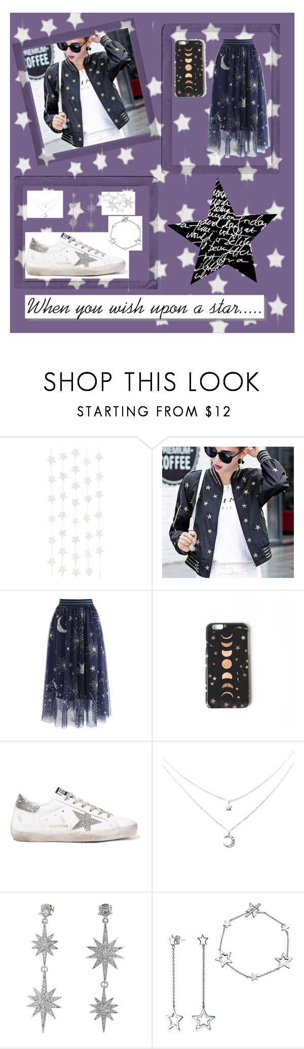 """""""When you wish upon a star......"""" by kloveskats ❤ liked on Polyvore featuring White Label, Polaroid, Chicwish, Nikki Strange, Golden Goose, Betsey Johnson, Bling Jewelry, Love Rocks and StarOutfits"""