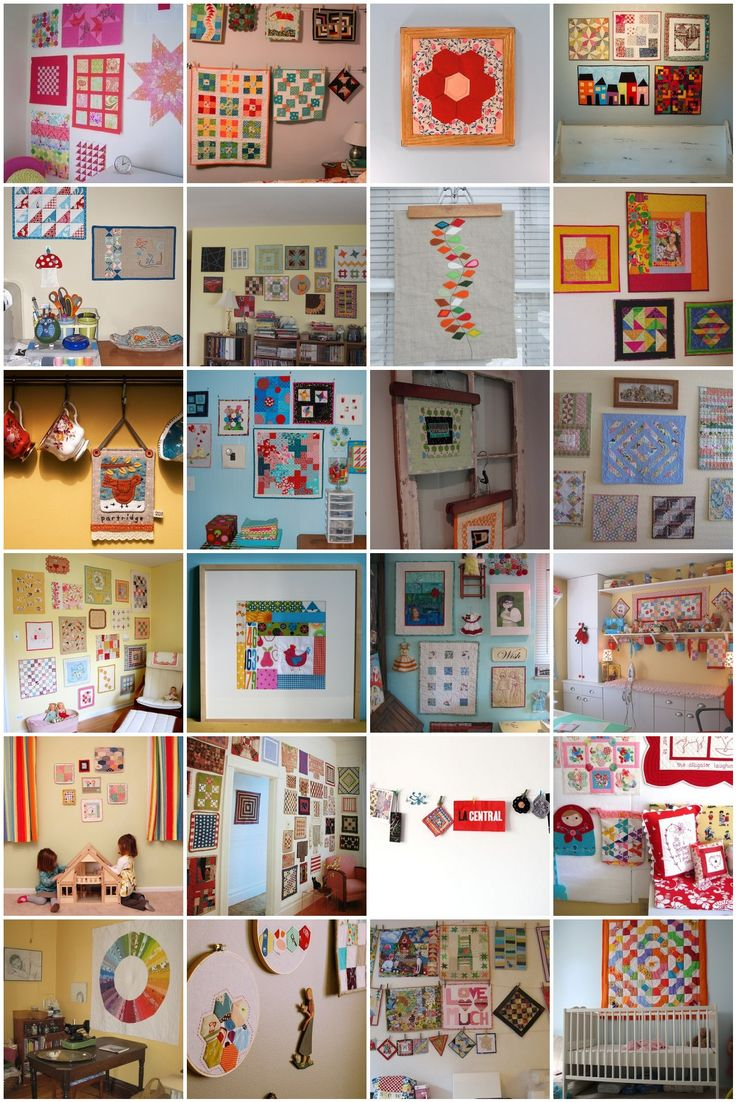 mini quilt display walls
