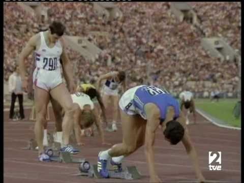 Final de 200 metros de los JJOO de Moscú 1980. Impresionantes ultimos 50 metros de Pietro Mennea que tras salir a la recta bastante retrasado respecto a su mayor rival Allan Wells (Campeon Olimpico de 100 metros), logra la victoria en unos fantásticos ultimos metros. 1 Pietro Mennea ITA 20.19 2 Allan Wells GBR 20.21 3 Donald Quarrie JAM 20.29 4 Silvio Leonard CUB 20.30 5 Bernhard Hoff GDR 20.50 6 Leszek Dunecki POL 20.68 7 Marian Woronin POL 20.81 8 Osvaldo Lara CUB 21.19