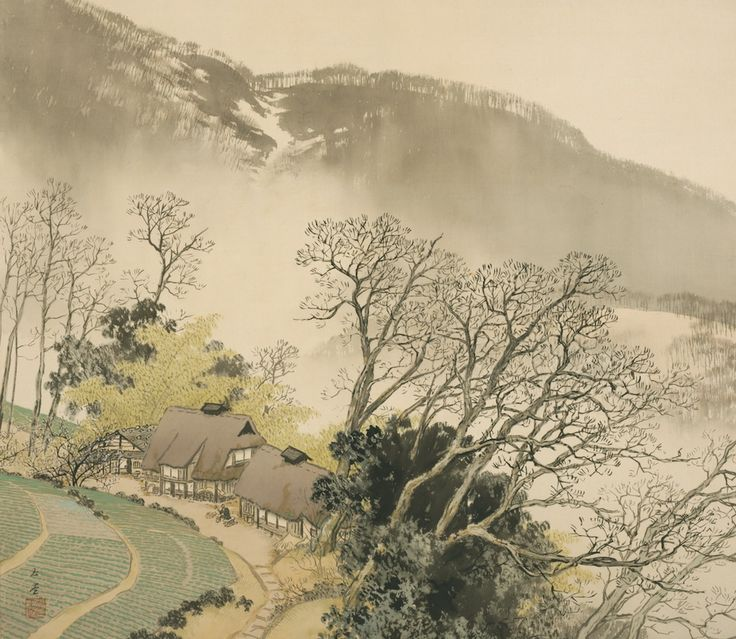 Kawai Gyokudo - Mountain Village in Early Spring, 1942