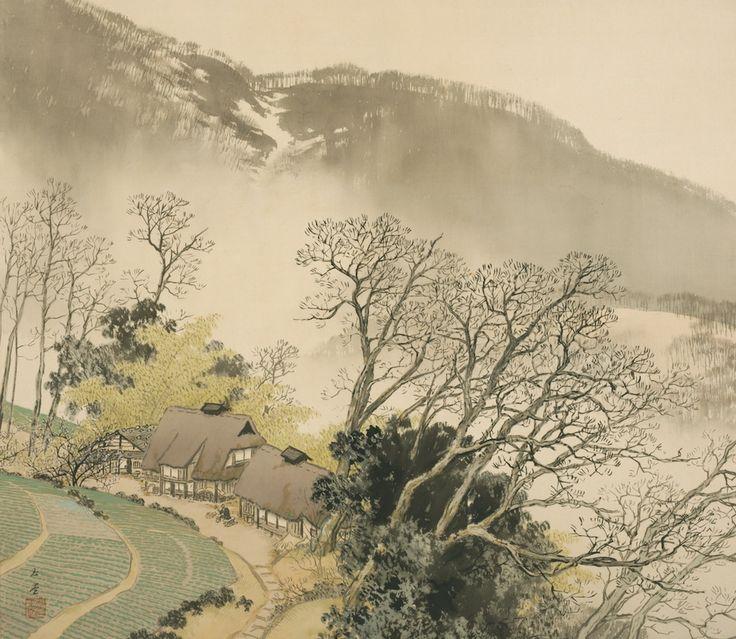 Kawai Gyokudo - Mountain Village in Early Spring, 1942