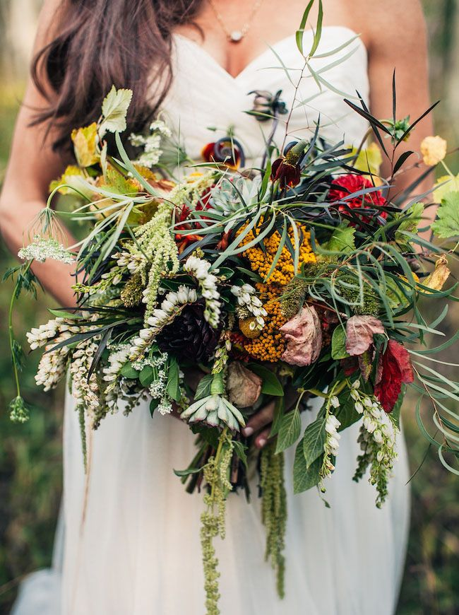 mountain inspired bouquet