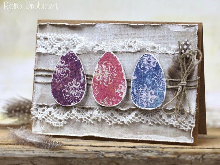 Easter eggs card shabby