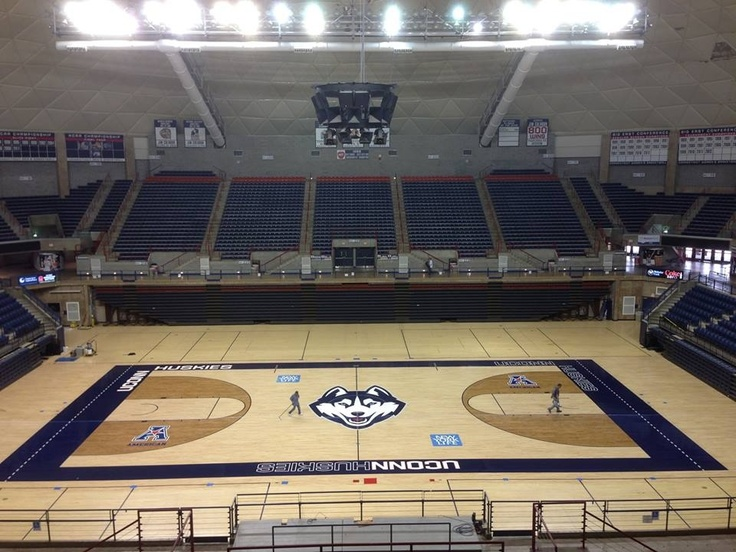 UConn Basketball Court! Amazing I got to play there...the basketball camp was fantastic - and this was before any of the championships!
