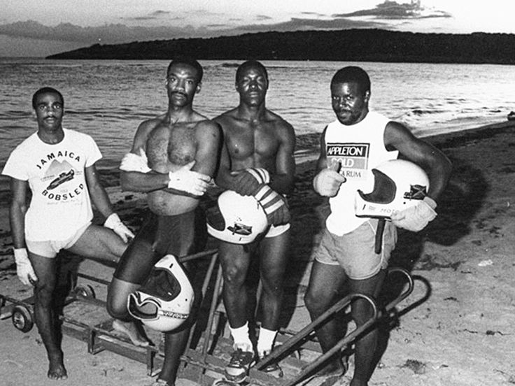 In the tropical country of Jamaica they do not have snow,  but they do have an Olympic bobsleigh team. After training hard with a wagon wheel, they managed to debut in the 1988 Winter Olympics. During the competition, the team's sled crashed. Legend has it that the spectators, encouraged by the team's effort and willpower, helped them push the sled across the finish line. #bobochoses