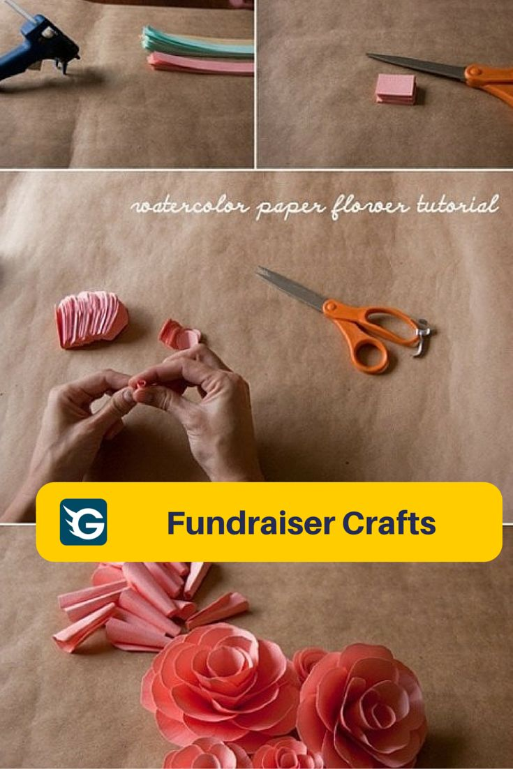 54 best fundraiser crafts images on pinterest fundraiser crafts water color paper flower tutorial funraisercrafts diy create your online fundraising campaign at http dhlflorist Image collections