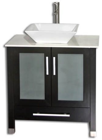 Image Gallery For Website  inch Bathroom Vanity Vessel Sink Top Modern Style Espresso Color Wx