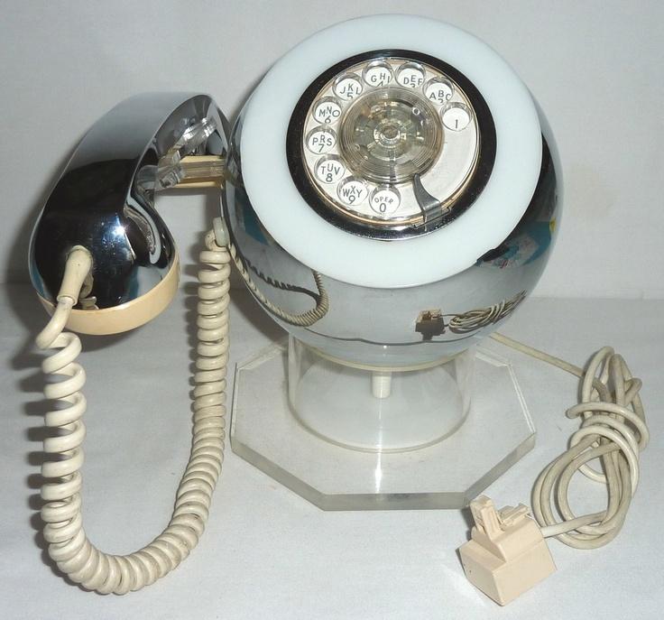 MID-CENTURY MCM UNIQUE LUCITE CHROME ITT PHONE