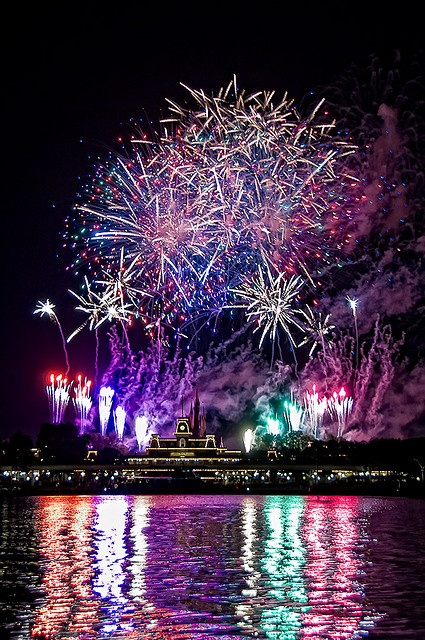 Fireworks over the Magic Kingdom, Walt Disney World, FL