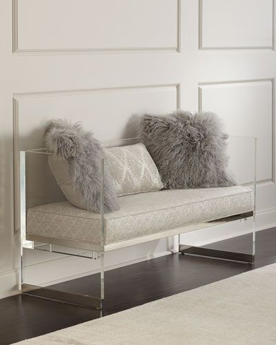 merrilee acrylic bench furniture u003e benches acrylic bench rh pinterest co uk
