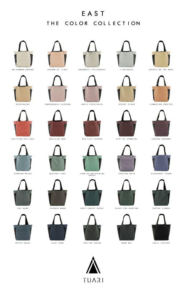 The EAST bag - TUARI Color collection > www.tuari.nl/color-east