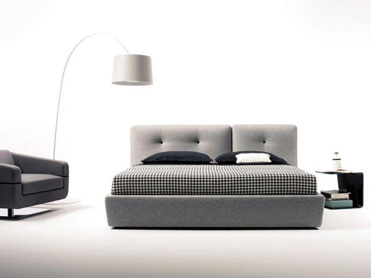 Letto contenitore con testiera imbottita BOUTON Linea Frighetto by ESTEL GROUP | design ADP design