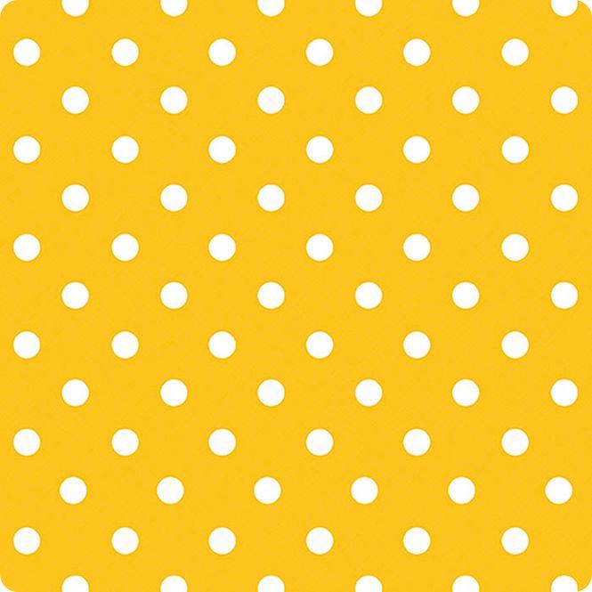 Amarelo jovem com bola branca.  ( bola 2 cm diâmetro ) tecido impermeável / mate / largura 140cm