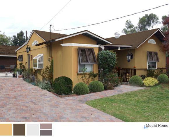 Warm Earthtone Stucco Bungalow Mochi Home Color