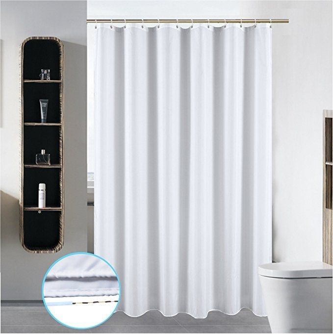 72 X 84 Washable Shower Curtain Liner Bathroom Water Repellent