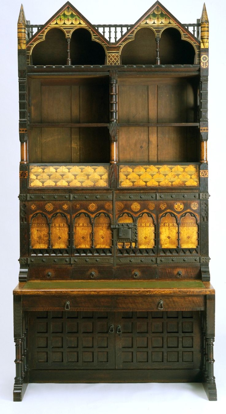 A cabinet  Designed by William Burges   (2 December 1827 – 20 April 1881) Burges  was an English architect and designer. Among the greatest of the Victorian art-architects