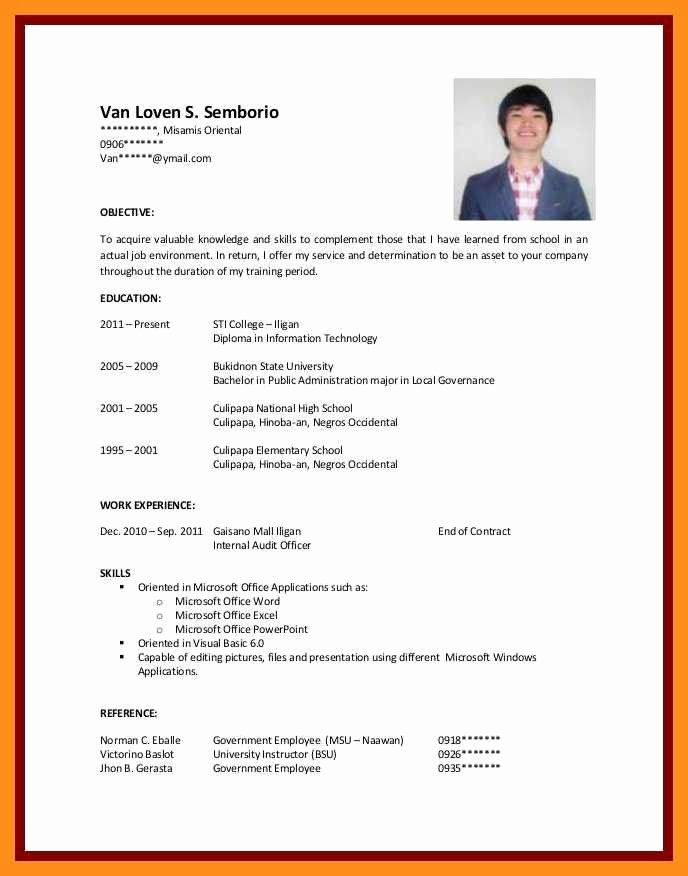 Resume Samples For College Student Lovely 12 13 Cv Samples For Students With No Experienc Job Resume Examples Sample Resume Templates Resume Objective Examples