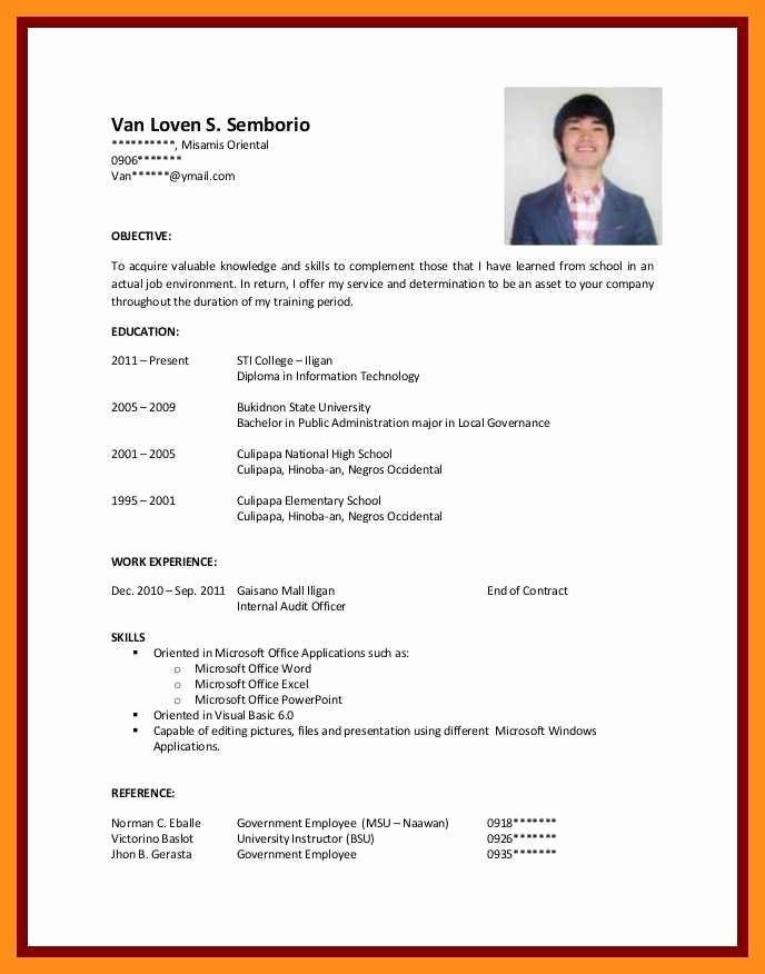 Resume Samples For College Student Lovely 12 13 Cv Samples For Students With No Experience Job Resume Examples First Job Resume Sample Resume Templates