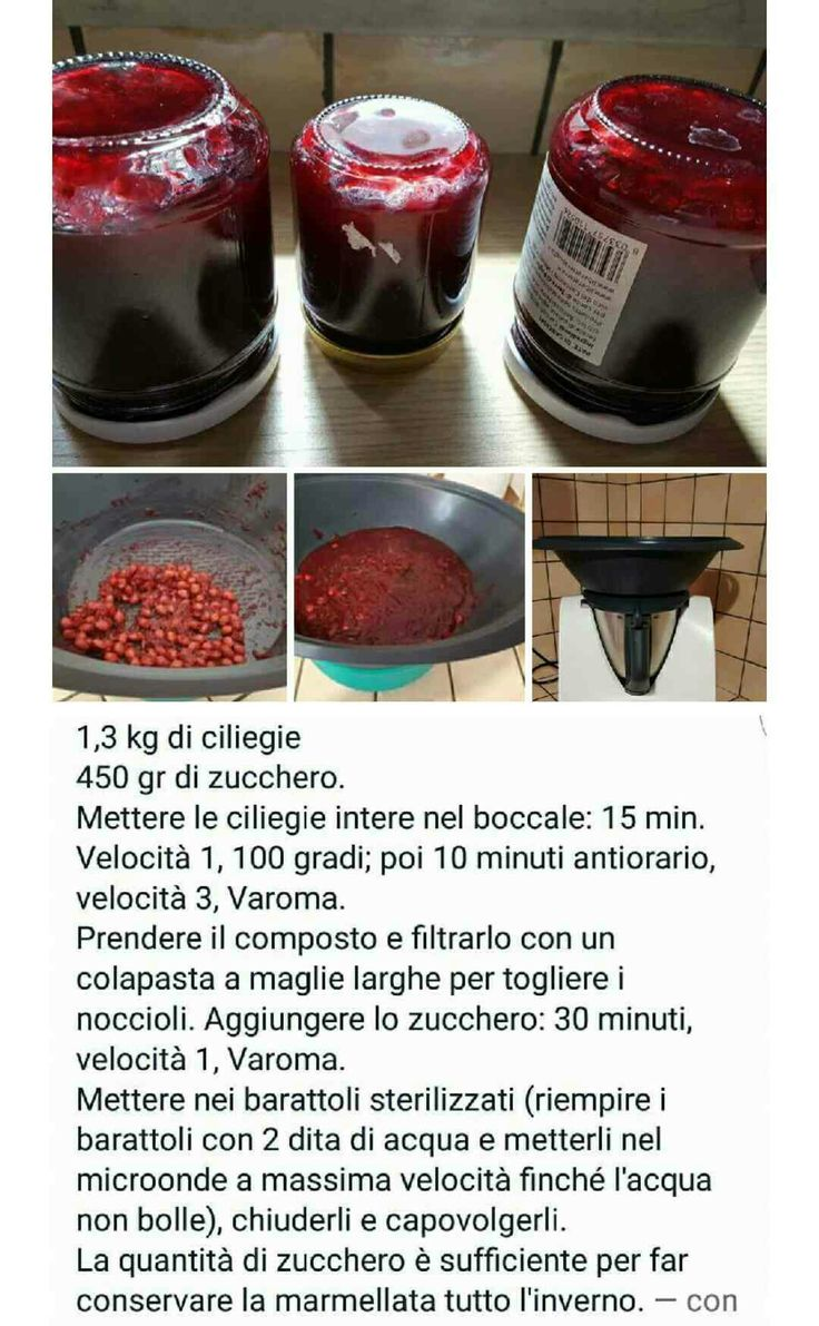 Marmellata ciliegie bimby