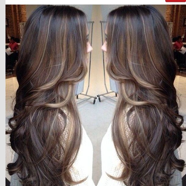 THIS IS IT!   Love the hi-lights and low lights color and the amount of color. Mostly natural brown. Long brown hair with lowlights