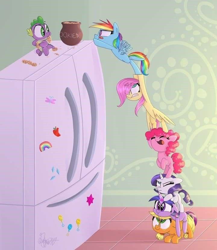 spike,applejack,twilight sparkle,pinkie pie,rarity,fluttershy,rainbow dash,filly