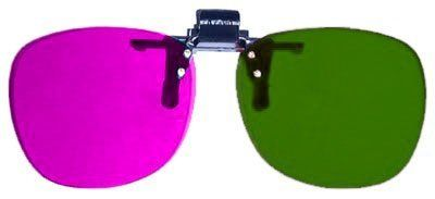 3D Glasses Direct-Clip On 3D Glasses for 3D Movies Ice Age 3 Dawn of The Dinosaurs 3D and Games that require Magenta/Green lenses by 3D Glasses Direct. $3.10. Plastic 3D Glasses - Clip-On. Handy flip-up style that fits over most corrective lenses. Optical quality, cast acrylic lenses for the latest movies including, Journey to the center of the earth 3D, My Bloody Valentine 3D, Coraline, Monsters vs Aliens.