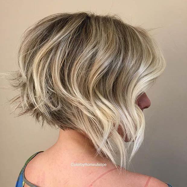 Messy Graduated Bob Haircut